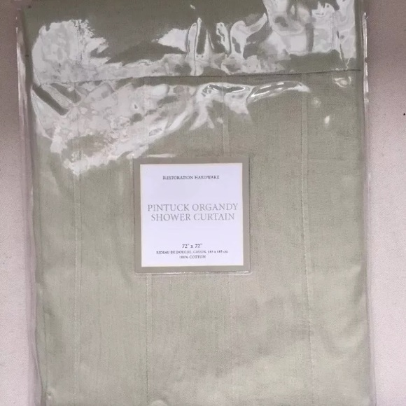 Restoration Hardware Sheer Pintuck Shower Curtain